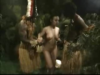 African Brutally Fucked American Woman In Jungle