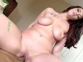 Lucky man films his sex with buxom redhead that loves passion