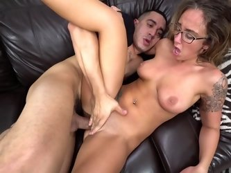 Sex in glasses with naked beauty Layla London