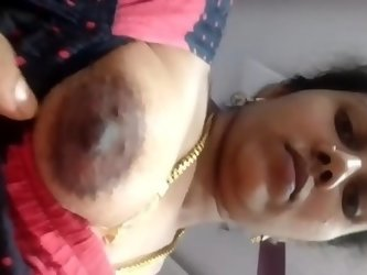 Sexy Bhabi Boob and Pussy Selfie