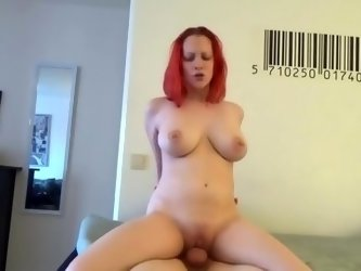 Red-haired horny widow woman