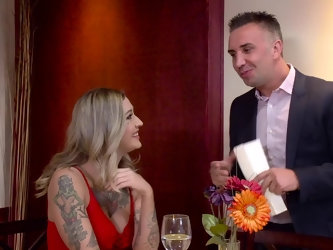 The chance to fuck hot pornstar Kleio Valentien inspires him to eagerly cheat on his wife. She's even hotter than he's fantasized about and