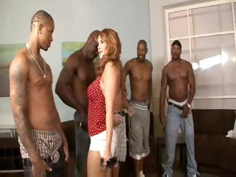 Naughty slut picks her favorite black guy