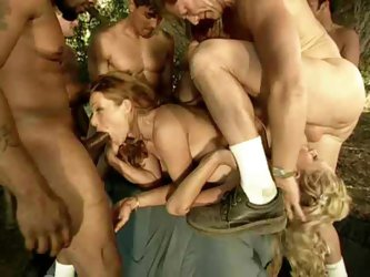 Outdoor Country Gangbang Sex