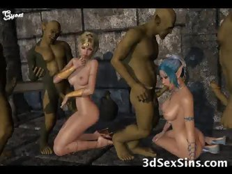 Monsters Cum On 3D Babes!
