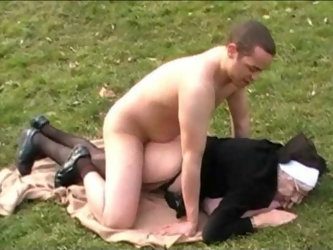 90 year old nun gets nailed in a park by Cougar Champion