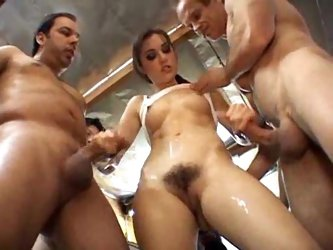 Sasha Grey gangbang with bukkake