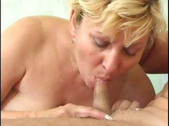 Cocksucking mature gets a good fuck in the butt