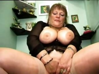 Busty GILF Caught Masturbating And Punished