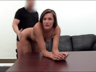 Girl gives up her asshole in casting couch session
