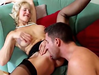 Hot British Mommy with Young Lover