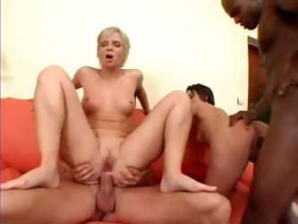 Butt fucking mature bitches in a group scene