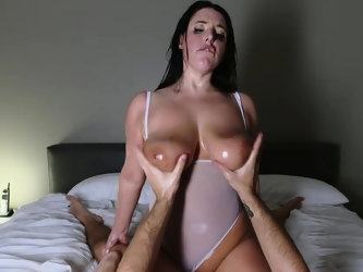 TeamSkeet - Angela White Gets Messy WIth Huge Cock