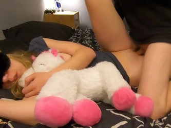 Adorable Napping Teen Step Sister Gets Huge Creampie