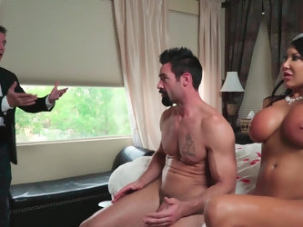 Voluptuous diva August Taylor is about to get marry so wants to have sex with her old friend as good bye. Her future husband catches them during dirty