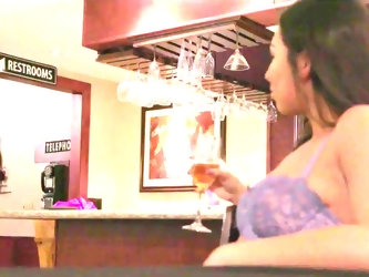 Curly-haired guy arrives in empty restaurant for first rendezvous with good-looking chick Melissa Moore. The tension between young people is so high,