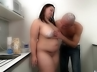 The fat baker is fucked by his cock