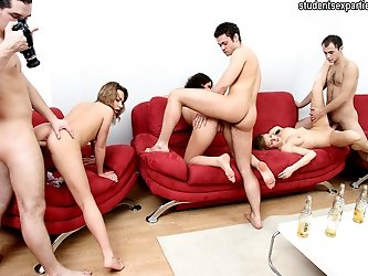 Wild fuck and suck orgy