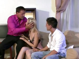 Wife fucked by stranger in front of husband