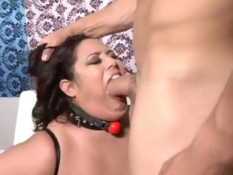 Bbw rikki waters gagged and fucked by her master