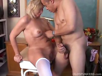 Hot mature teacher fucked in classroom