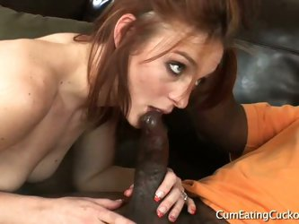 Riley shy in cum eating cuckolds