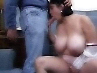 Busty Helena Sucks His Cock And...