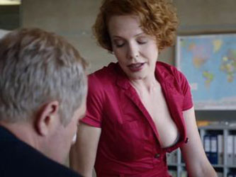 Hot redhead in Austrian Tatort-episode