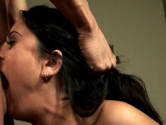 Lucious Lopez does a sloppy deepthroat blowjob DTD