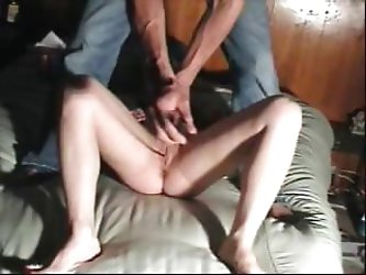 Amateur brunette is getting her pussy flogged and caned for punishment