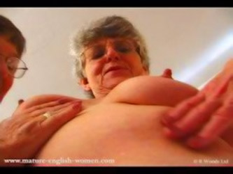 Lesbian Grannies get horny when comparing their underwear
