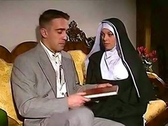 Shy Nun gets her ass fucked and face spermed (Try something different Tì Free)