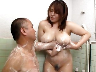 Mizuki is a Japanese mommy that has a pair of big tender boobs. She uses her amazing breasts to give her man a nice experience. Mizuki soaps up her br
