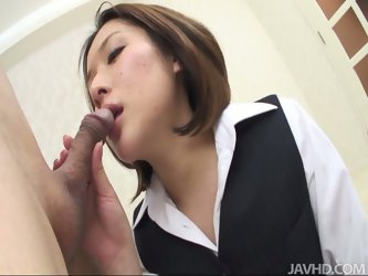 Emi Orihara is a Japanese teacher who loves her students' fathers. She seduces geezer, by getting naked and giving him blowjob.