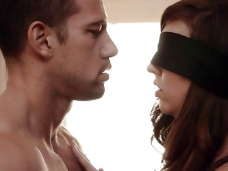 India is going to teach Anna Lee the ways of sex. She guides her toward this hunk and makes her touch his penis. Anna is blindfolded, but she still li