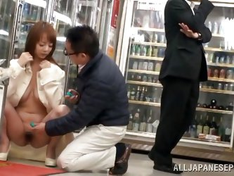 Do you like exhibitionist naughty babes? An Asian hungry slut gets really horny, while shopping in a supermarket. Click to see her undressing and expo