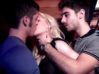 pretty blond 18 years old in a gang bang. watch on xtime.tv