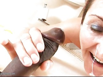 Katarina is a horny mature and she loves big black cocks and the hot white jizz that comes out of them. She is taking that dick in her cunt from behin