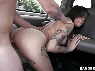 Watch this slutty brunette, she's fucking hot and damn that ass deserves a pounding. Her name is Lauren and she's banged in the bus like a c