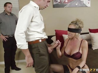 Brandi is getting ready for a nice evening with her husband. She takes a nice long shower and lets the water pour over her. When she is nice and refre