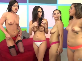 Noelle Easton is a part of an awesome orgy with many slutty babes