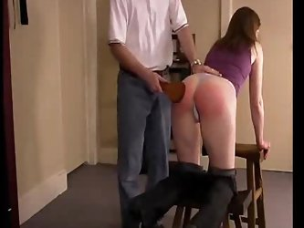 Wife well spanked