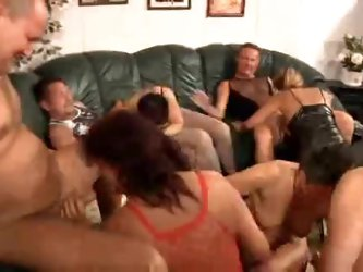 Big swinger party with lots of matures