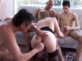 French milf double fucked