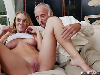 Molly Mae Fucks with Grandpas For Money