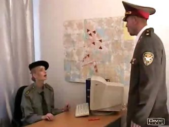 Russian superior officer abusing lower ranked girl soldier