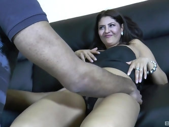 Busty Latina babe Mariskax gets impaled doggy style by a black cock