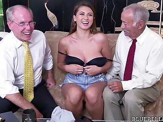 Ivy Rose gets fucked by old grandpa