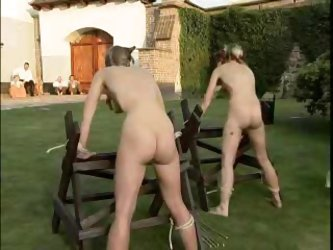 Two East European Girls In Outdoor Extreme Caning
