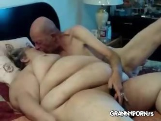 Big Fat Amateur American Granny Fucked By Her Skinny Grandpa